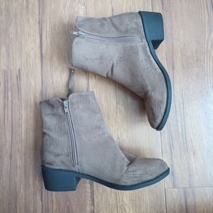 Pink Martini Suede Ankle Boots Size 38